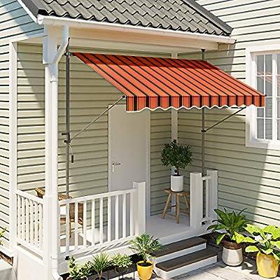 SONGMICS GSA203OB Toldo de sujeción, Naranja y Negro, 200cm: Amazon.es: Jardín