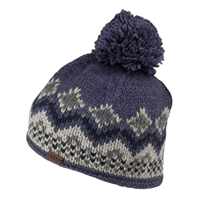 ab60cc9b02135d Kusan Hats Wool Bobble Beanie Hat - Blue 1-Size: Amazon.co.uk: Clothing