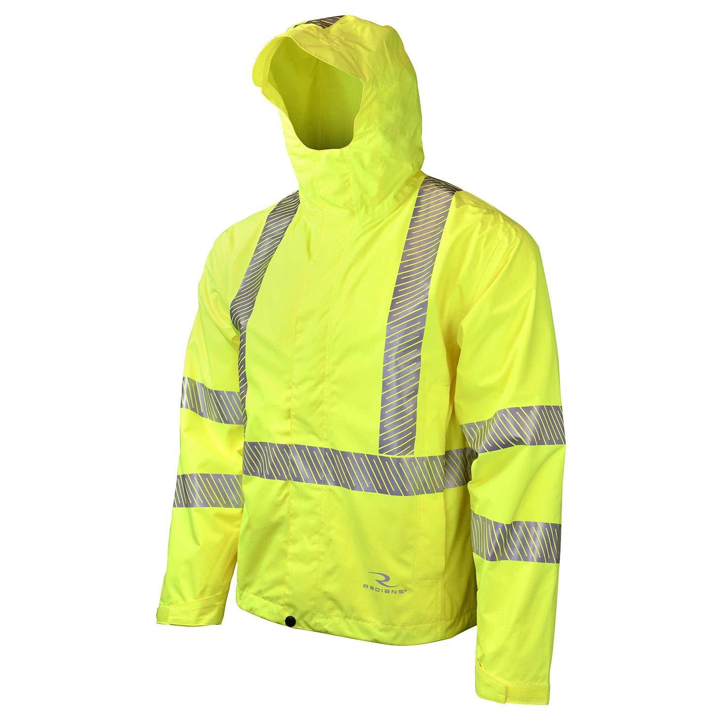 Radians RW11-3ZGR Lightweight Waterproof Rain Jacket, Large, Green