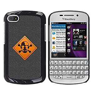 LECELL -- Funda protectora / Cubierta / Piel For BlackBerry Q10 -- Warning Meth Cook --