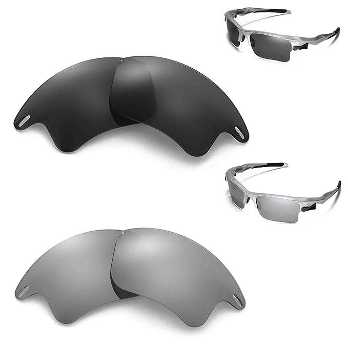walleva polarizadas titanio + negro lentes para Oakley Fast Jacket XL: Amazon.es: Ropa y accesorios