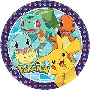 Amakando 8 Platos Desechables Anime Pokémon / 22,8cm ...