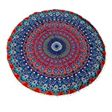 Floor Pillows Round Bohemian Cover Ottoman Pouf For Spring With This Super Groovy Shape Pillow Poufs Happy Pompom Borders.