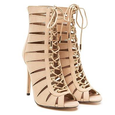 fcfd0bef143 Amazon.com | Shoe Republic LA MOET Womens Lasercut Dress Ankle Boots ...