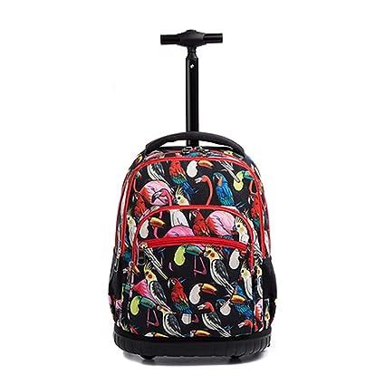 QCC& Gran Capacidad Mochilas Escolares con Ruedas Trolley para Niños Al Aire Libre De Viaje Nylon