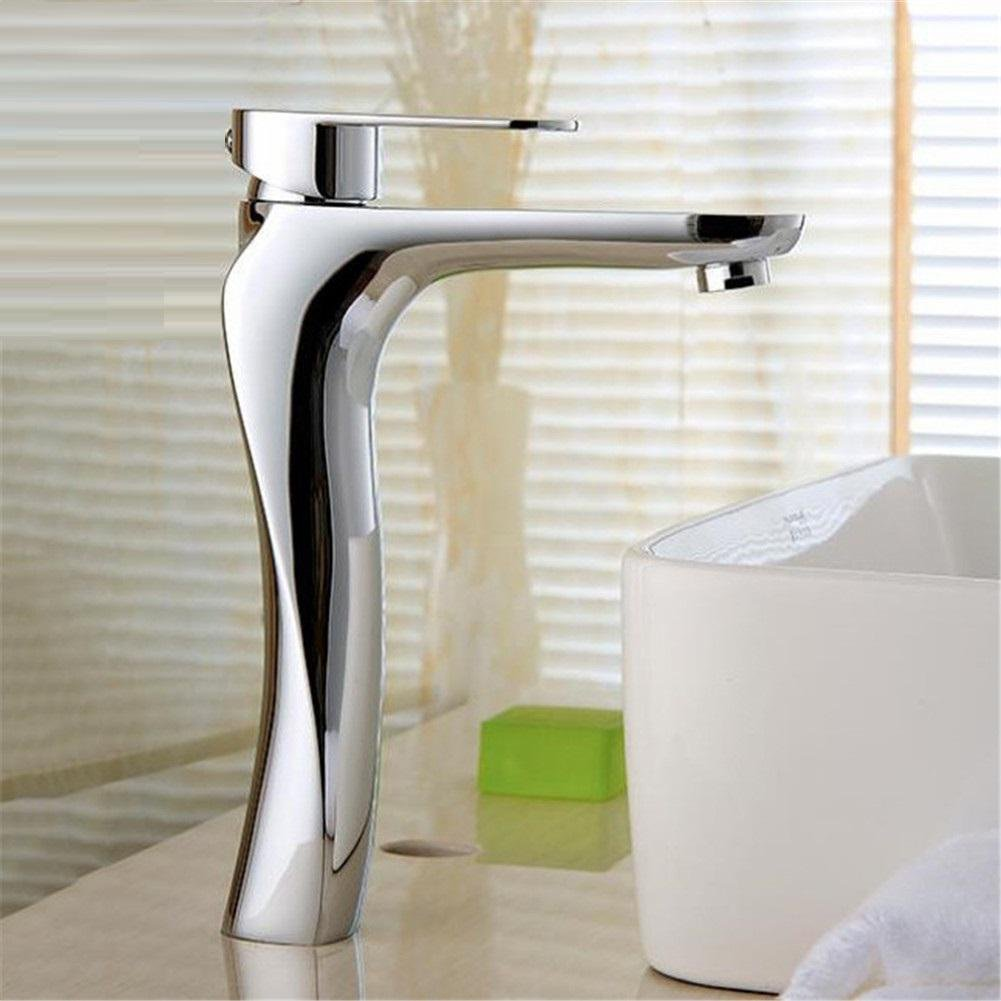 high-quality GAOF Modern bathroom Products Chrome Finished hot and cold water basin faucet faucet, single handle tap water torneira