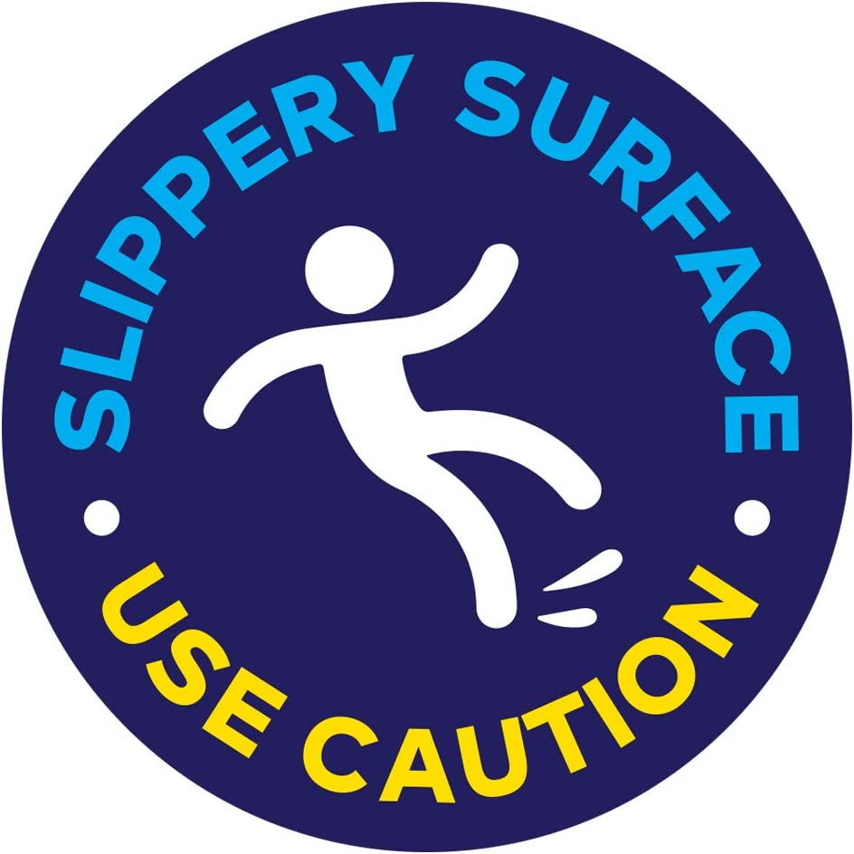 Slippery Surface Floor Decal (Slippery Surface USE Caution, 11