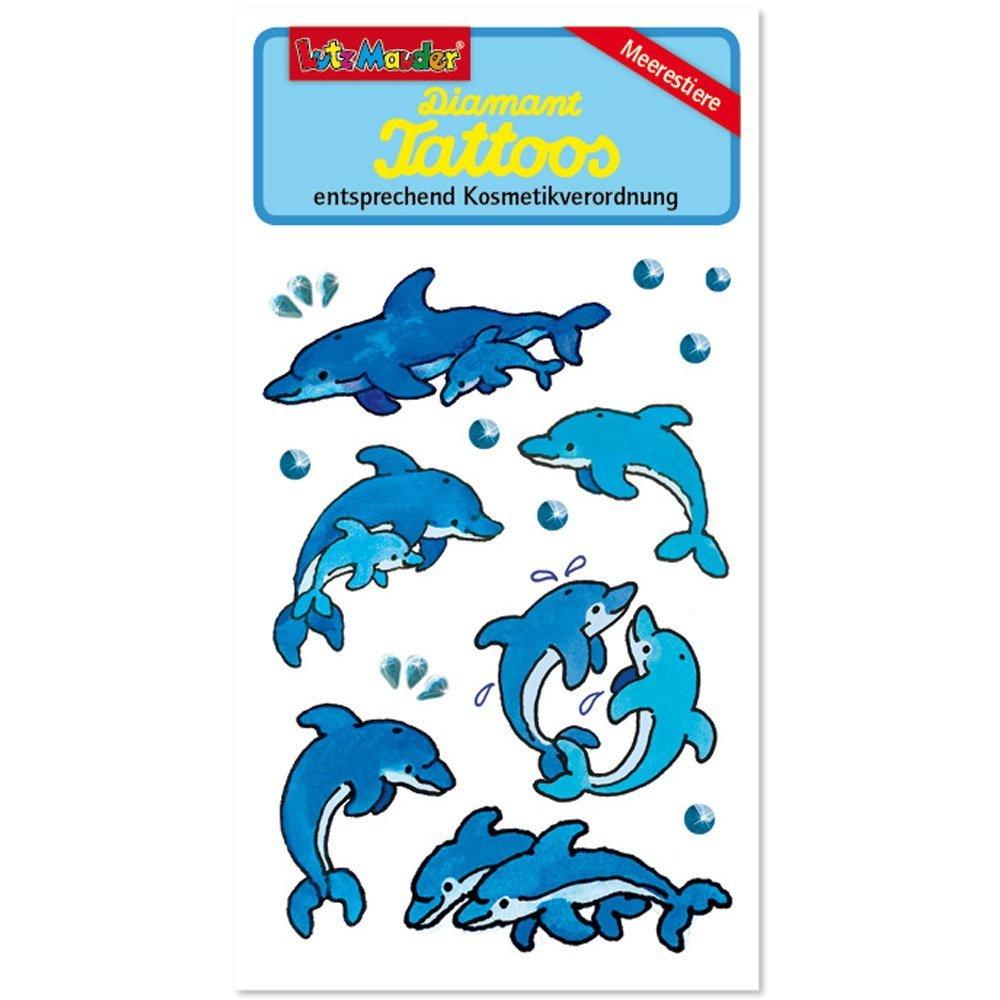 Avery Zweckform Kindertattoos Delfine Einmaltattoo Hautsticker Kindergeburtstag