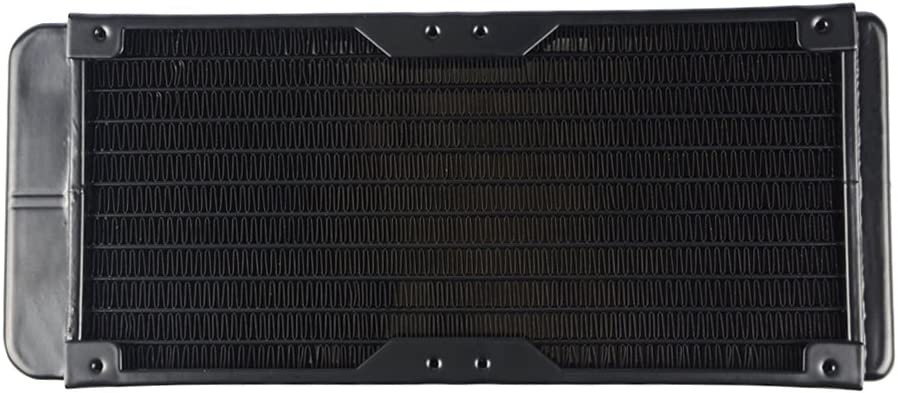 BXQINLENX 10 Pipe Aluminum Heat Exchanger Radiator for PC CPU CO2 Laser Water Cool System Computer 240mm