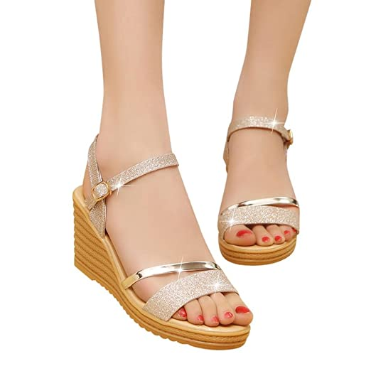 00b90bfbf Amazon.com  Women High Heels Wedges Shoes