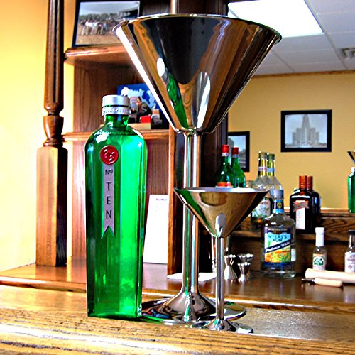 Giant Stainless Steel Martini Glass - Holds 80 oz by American - Steel Steel Glass Martini Stainless
