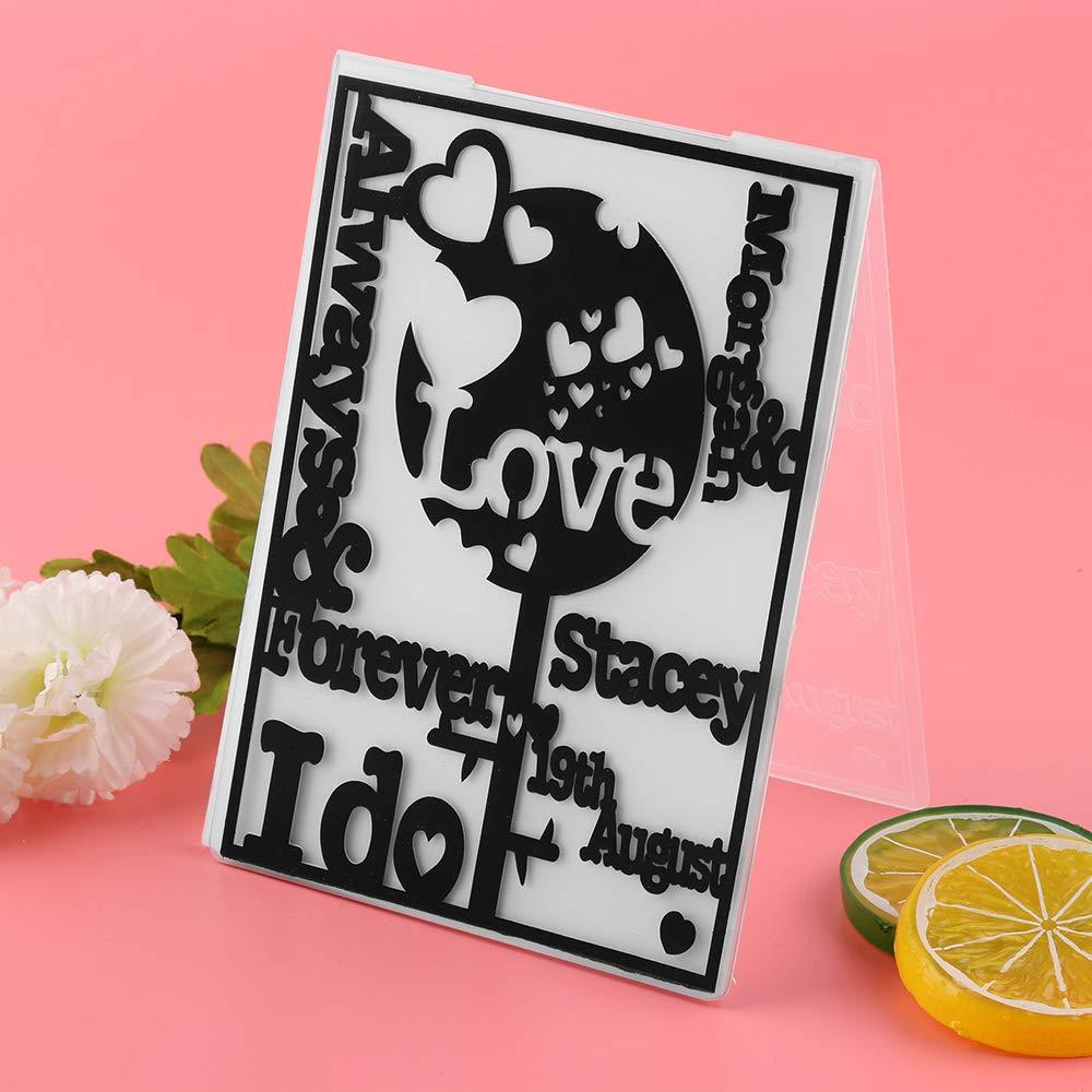 Amapower Embossing Folders Plastic Cards Stencils for DIY Craft Scrapbooking Photo Album Card Decoration