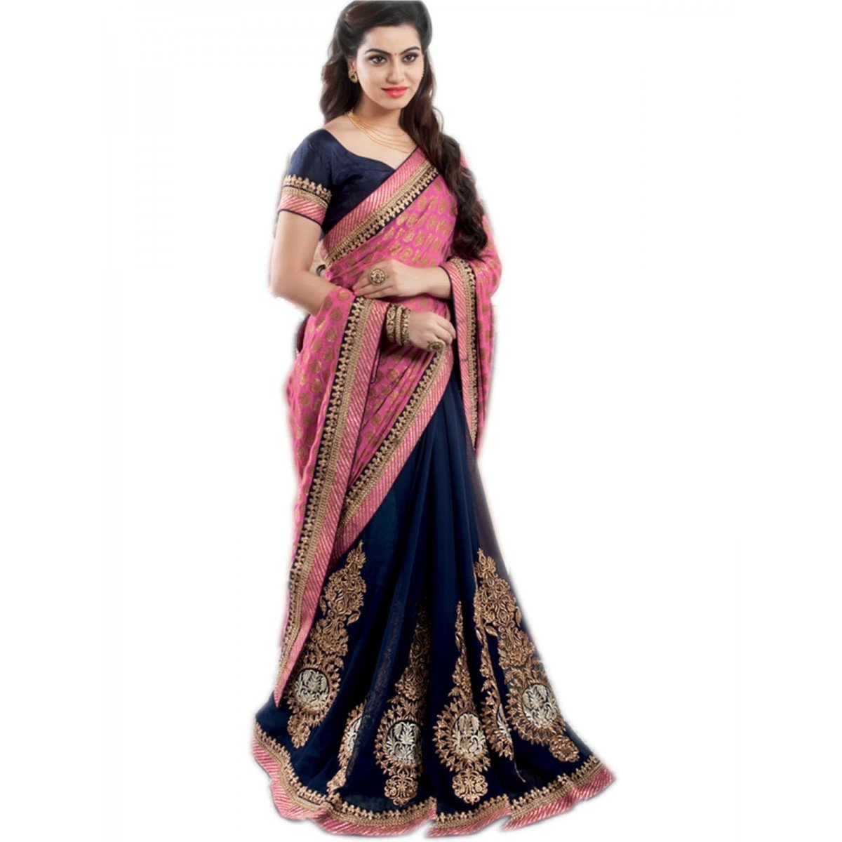 Delisa Fashion Indian/Pakistani Women Designer Party wear Saree Sari ZL1018