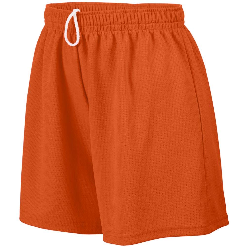 Augusta Sportswear Augusta Girls Wicking Mesh Short, Orange, Medium by Augusta Sportswear