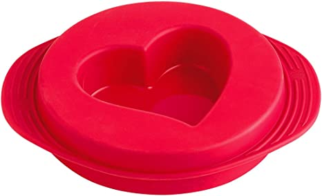 Red Silicone Reversible Heart Cake Pan Orka Paris A41610