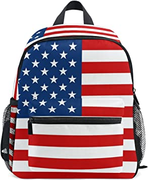 LORVIES American Flag Mini Kids Backpack Pre- Kindergarten Toddler on