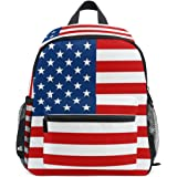 LORVIES American Flag Mini Kids Backpack Pre-School Kindergarten Toddler Bag 055da92f1f