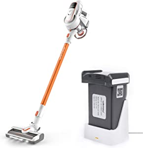 Womow Cordless Vacuum Cleaner, 2 Detachable Batteries with 16Kpa Powerful Suction Stick Handheld Vacuum Cleaner, W9 Pro