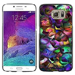 Paccase / Dura PC Caso Funda Carcasa de Protección para - Neon Colors Random Modern Art Wallpaper - Samsung Galaxy S6 SM-G920