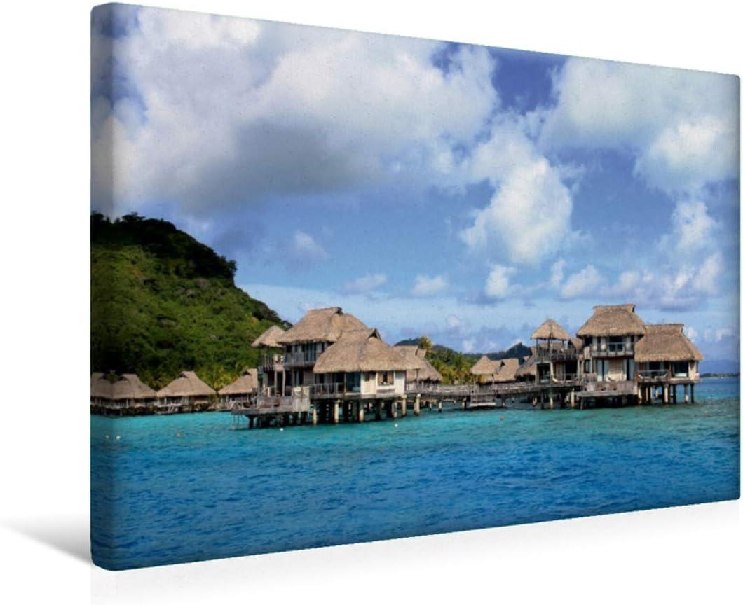 Premium - Lienzo de tela (45 x 30 cm, horizontal, de lujo, lavado a agua antes de Bora Bora, cuadro sobre bastidor, listo en lienzo) por el Pacífico Meridional. (CALVENDO Orte);CALVENDO Orte