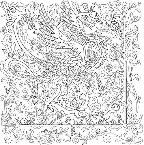 Dragons Adult Coloring Book 31 Stress Relieving Designs Studio Series Artists