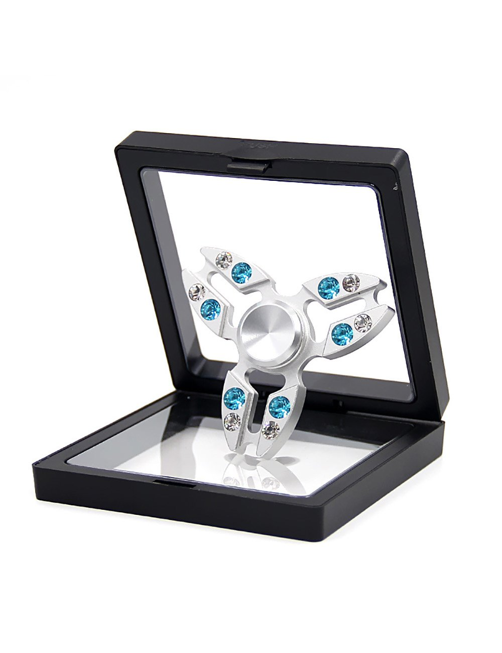 Callancity Crystal Fidget Finger Spinner-Luxury Handwork Shiny Colorful Diamond Crab Tri Fidget Hand Finger Toy Spinner for ADHD Anxiety