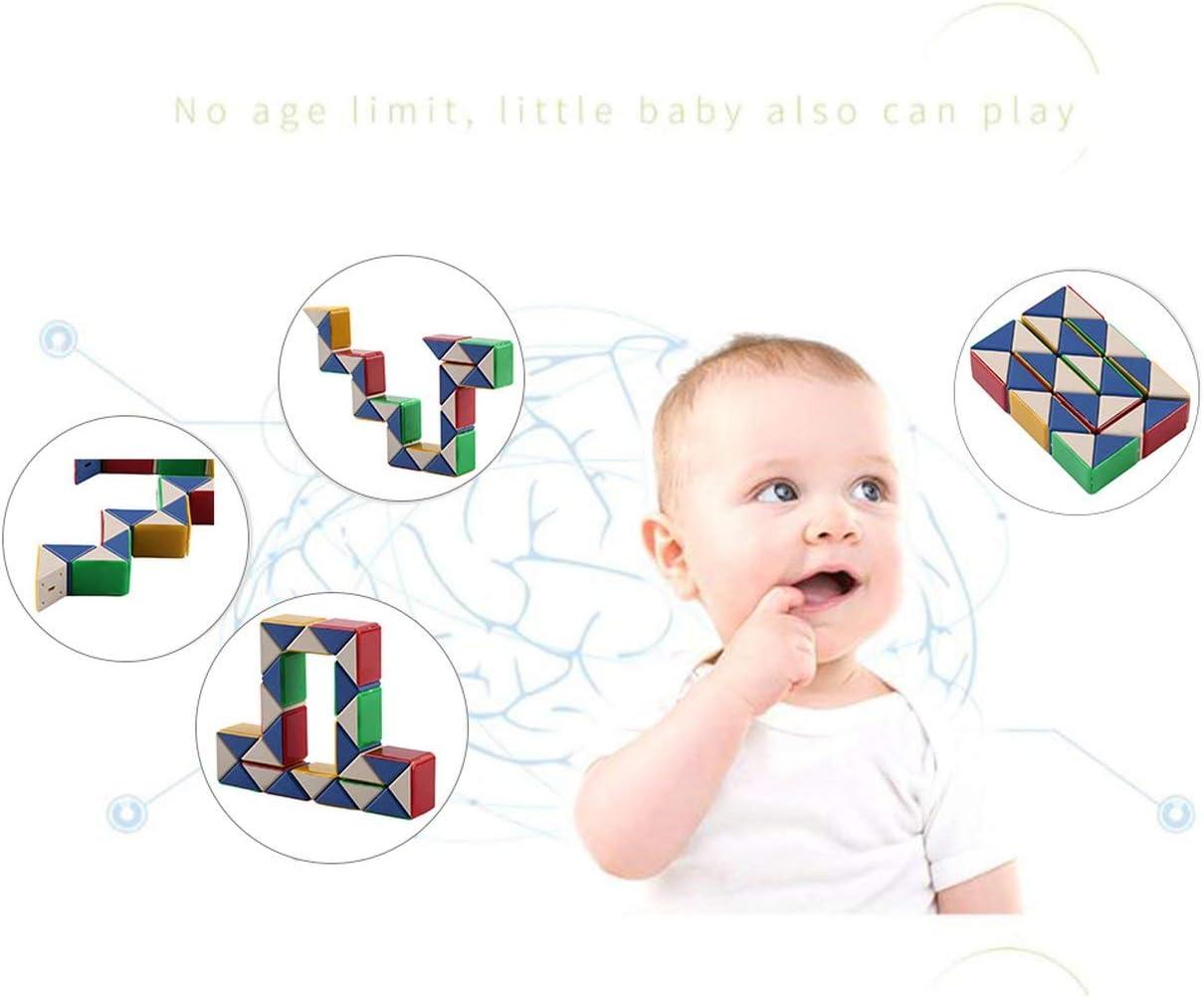 Biyi Magie Schlange Twist Geduldsspiel Form /ändern Magie Ruler Tragbare Intelligenz IQ Spielzeug Durable Kinder Lernspielzeug multicolor