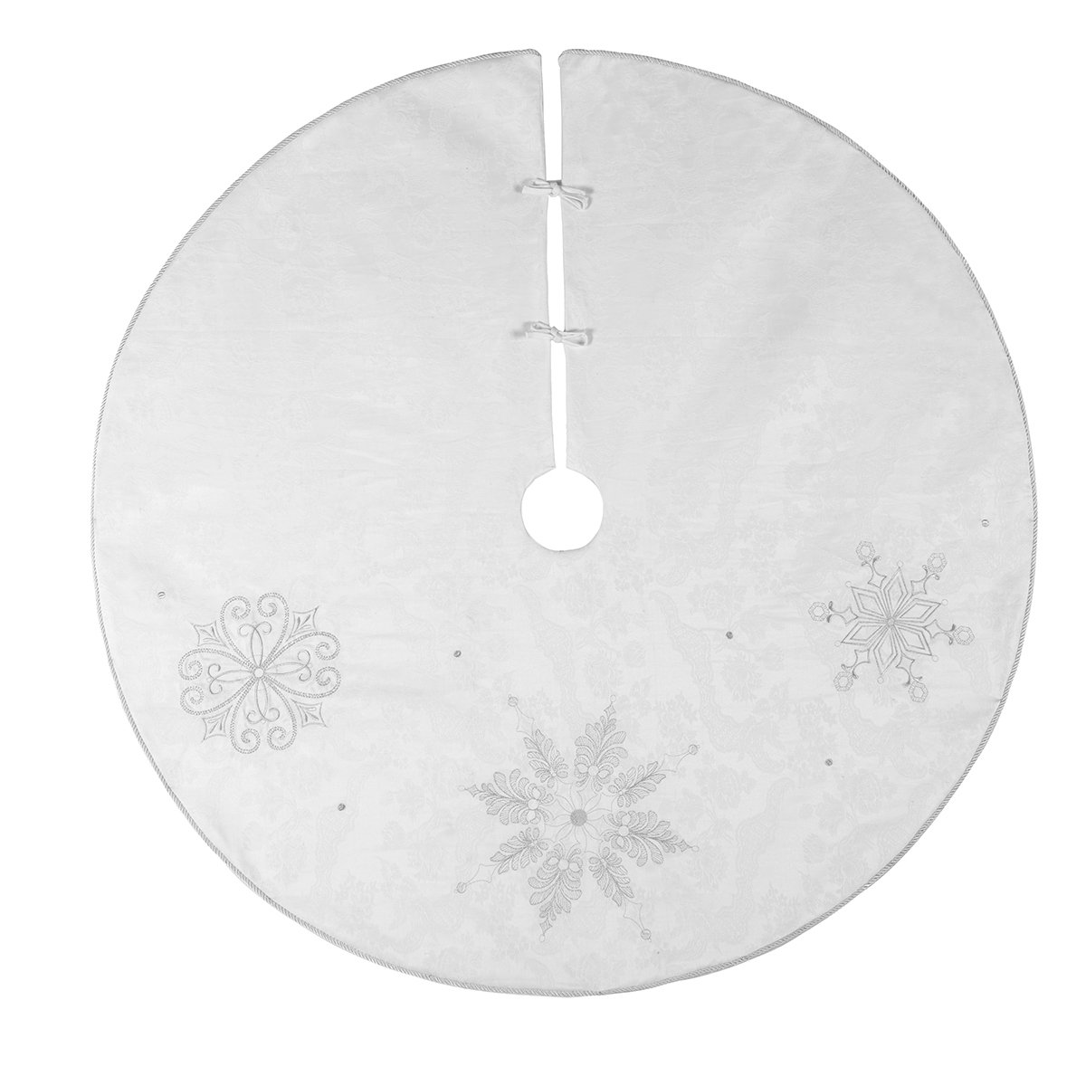 C&F Home Silver Frost Tree Skirt Multi