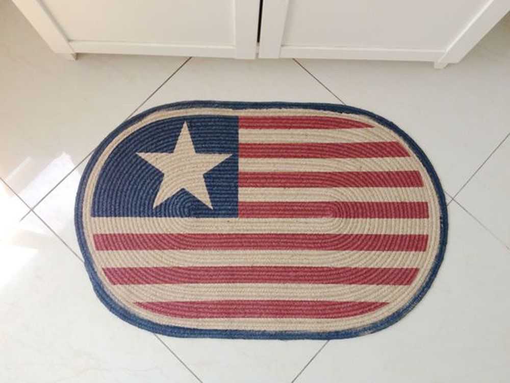 RedBeana Linen Handmade Area Rug Carpet for living room bed room, Captain America print,50x75cm (Captain America print, 50x75cm)