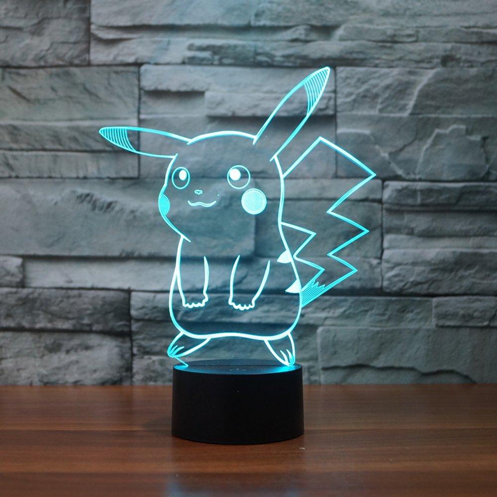 A Pikachu LED light