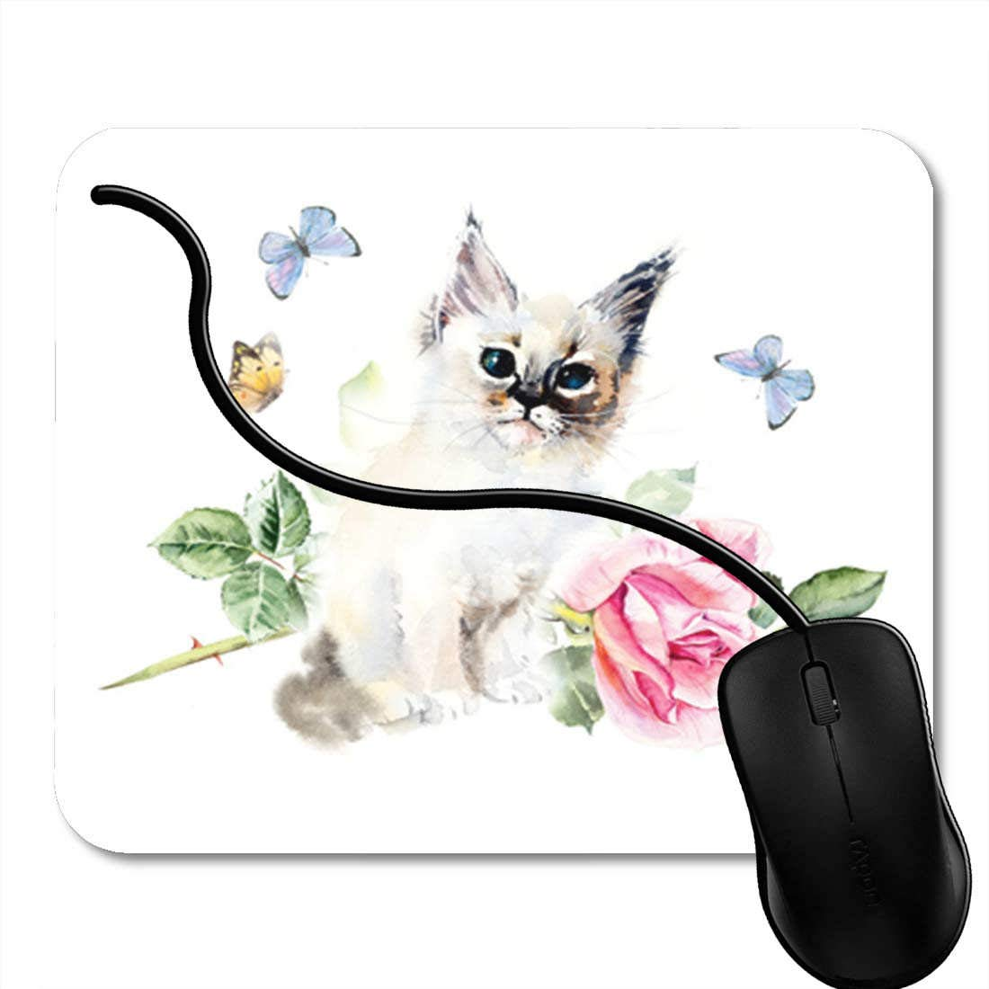 Gaming Mouse Pad Note Collection of Music Symbols Vector Notation Key Sign Clef Office Nonslip Rubber Backing Mousepad Mouse Mat 2F7897