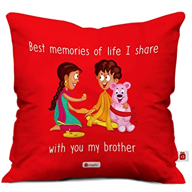 Indi ts Rakhi Gift Set of Bro Sis Love Quote Printed