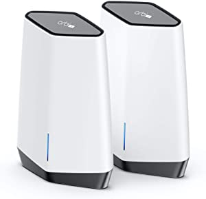 NETGEAR Orbi Pro WiFi 6 Tri-Band Mesh System (SXK80) | Router with 1 Satellite Extender for Business or Home | Coverage up to 6,000 sq. ft. and 60+ Devices | AX6000 802.11 AX (up to 6Gbps)