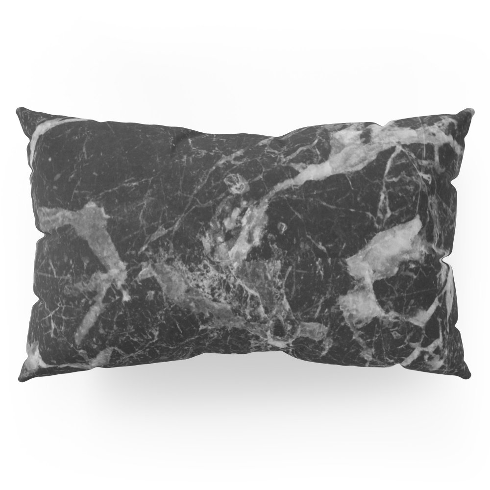 Society6 Black And Gray Marble Pattern Pillow Sham King (20'' x 36'') Set of 2