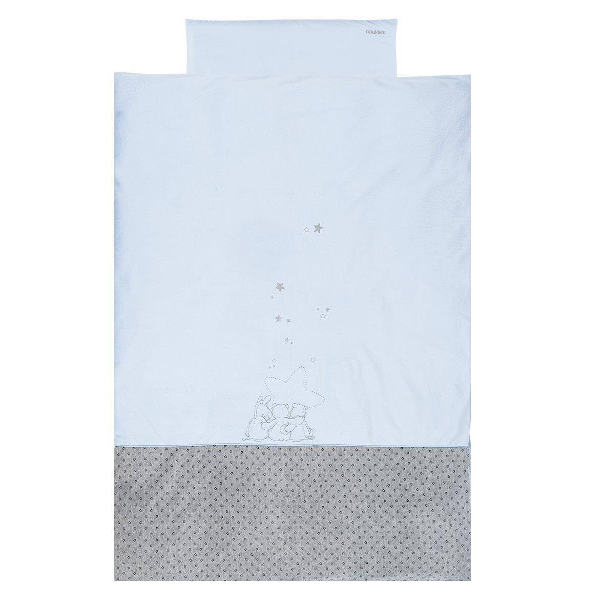 NOUKIES Housse de Couette Framboise/Blanc Motif Anna/Pili 100 x 140 cm BB1590.23
