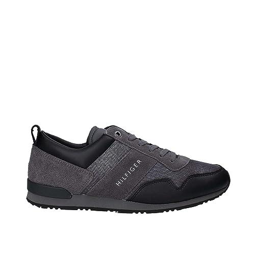 Tommy Hilfiger FM0FM001124 Sneakers Hombre BLACK/MAGNET 43: Amazon.es: Zapatos y complementos
