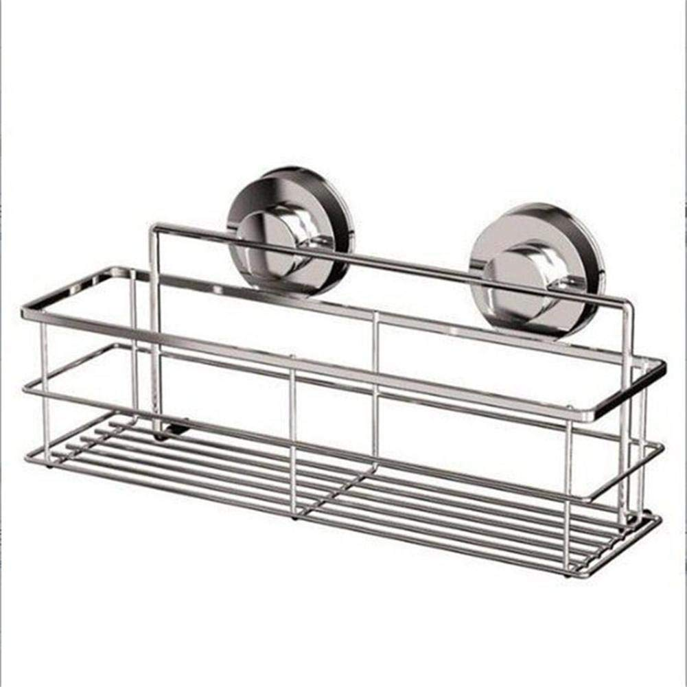 iBaste_S Newspaper Magazine Rack Stainless Steel Long Bottle Rack Shallow Bottle Rack Kitchen Bathroom Toilet Rack