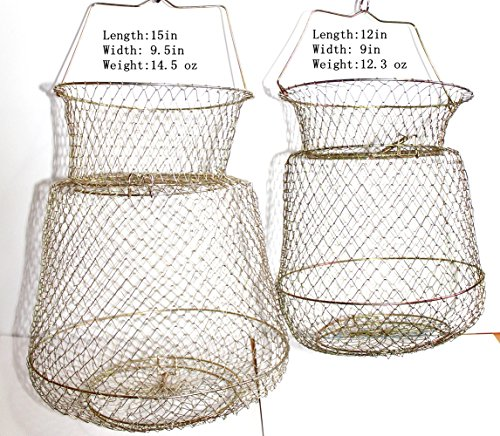 Kathy store inc 1pc floating wire fish basket masterbasser for Floating fish basket