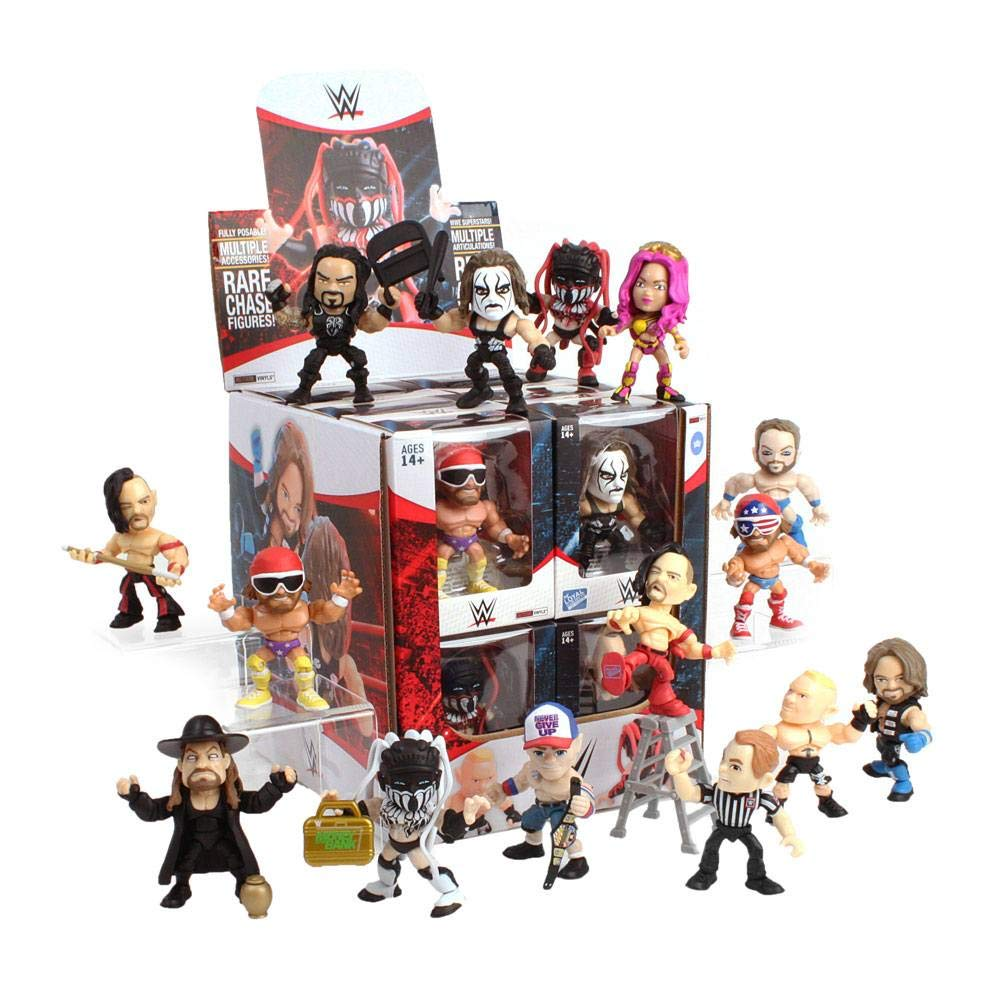 The Loyal Subjects WWE Action Vinyls Window Box Assortment (12 Figures), Multicolor