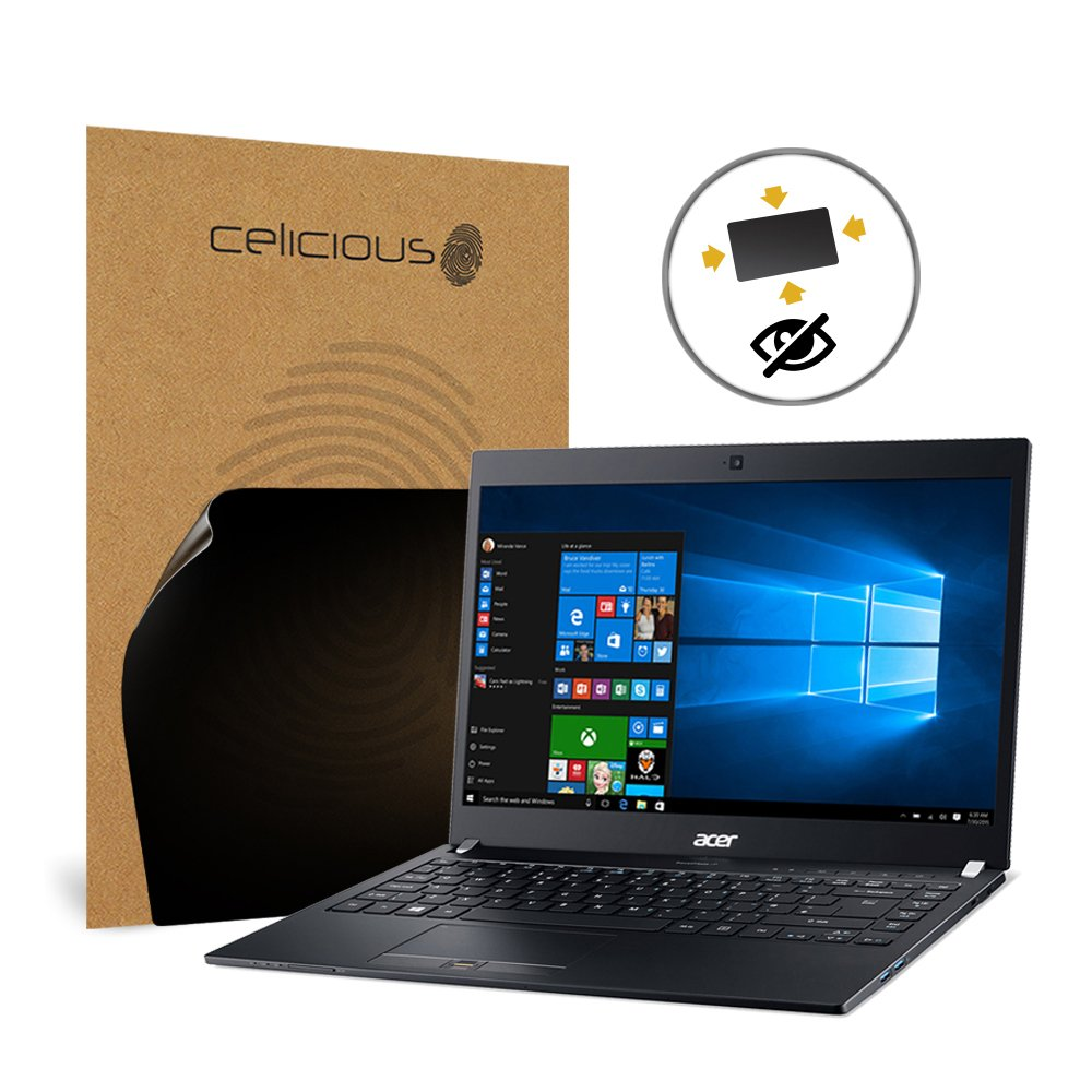 Celicious Privacy Plus 4-Way Anti-Spy Filter Screen Protector Film Compatible with Acer TravelMate P6 TMP648-M