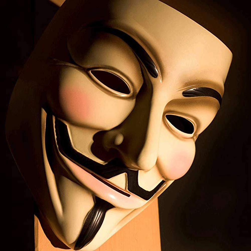 Xmecos V for Vendetta Guy Mask Halloween Costume Cosplay Party Mask
