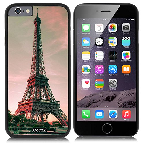 New Apple iPhone 6 s 4.7-inch CocoZ® Case Classic Paris Eiffel Tower Beautiful Night view PC Material Case (Black PC & Eiffel Tower - Garden Park State Mall
