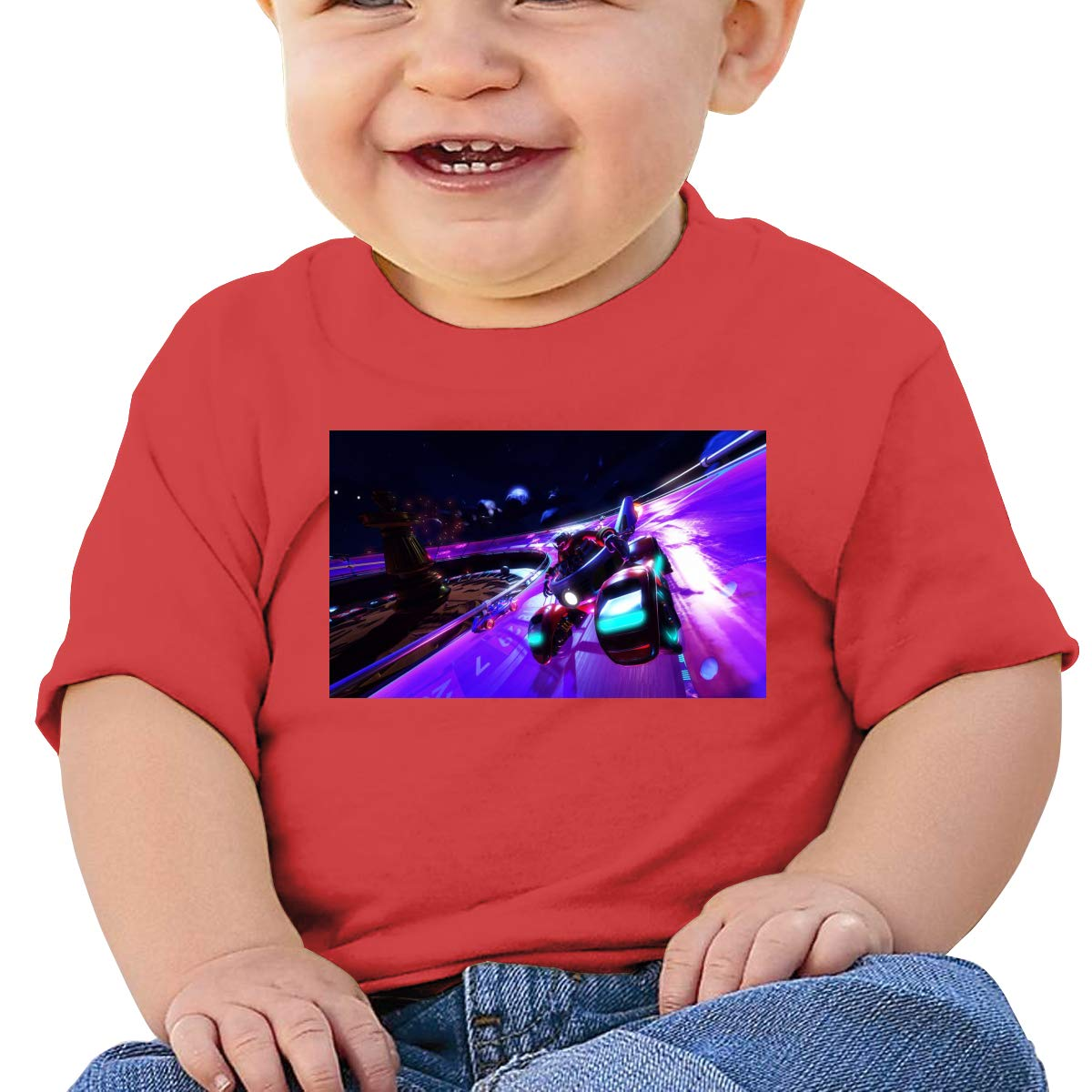FHTD All Stars Racing Infant Graphic T-Shirt Baby Cartoon Cotton Tees Black