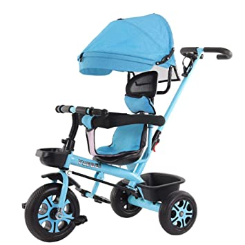WENYAO Cochecito de bebé para niños Triciclo de Bicicleta 1 ...