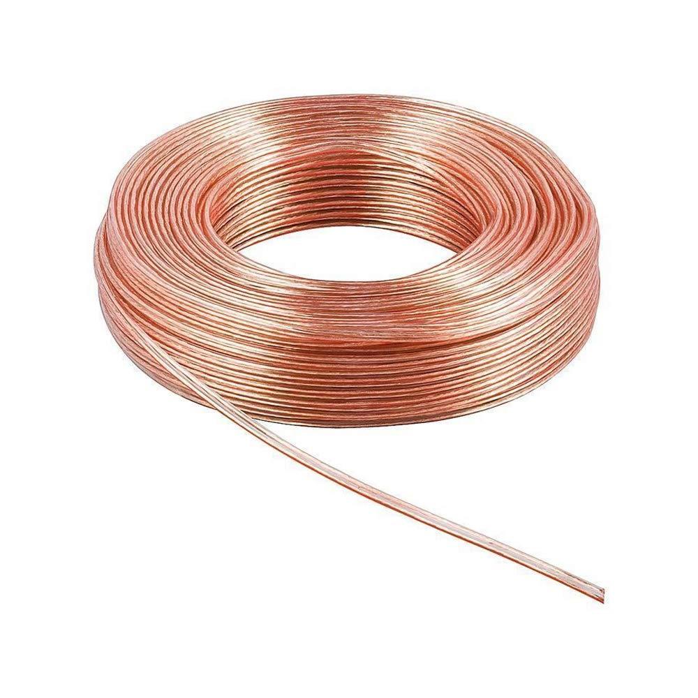 0,49€//m 5-100m LED Kabel Leitung Zwillingslitze 2x0,50mm² weiß 100/% Kupfer