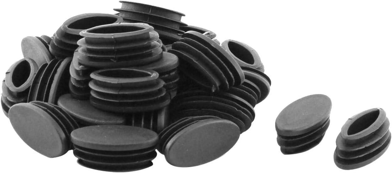 Fiween Pies para sillas de Mesa de pl/ástico Tubo Oval inserte la Tapa 20 x 40 mm 30p