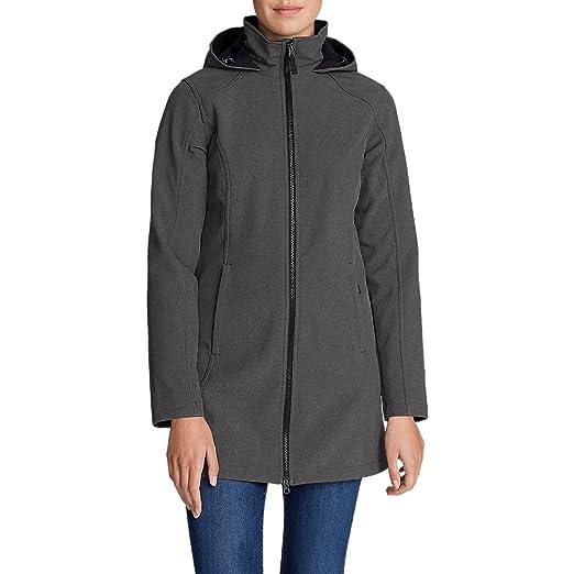 Eddie Bauer Women's Windfoil Elite II Hooded Trench Coat Travel Jacket