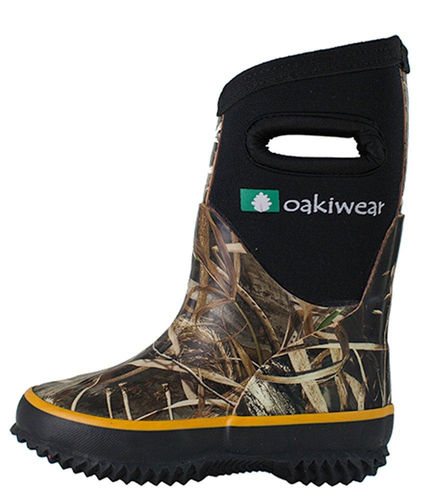 Oakiwear Children's Neoprene Rain Boots, Snow Boots, Muck Rain Boots, Max 5 Camo 1Y