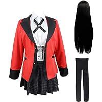 Godmoy Yumeko Jabami Cosplay Costume Kakegurui Uniform & Wig Set Momobami Kirari Yomoduki Runa Cosplay Outfit