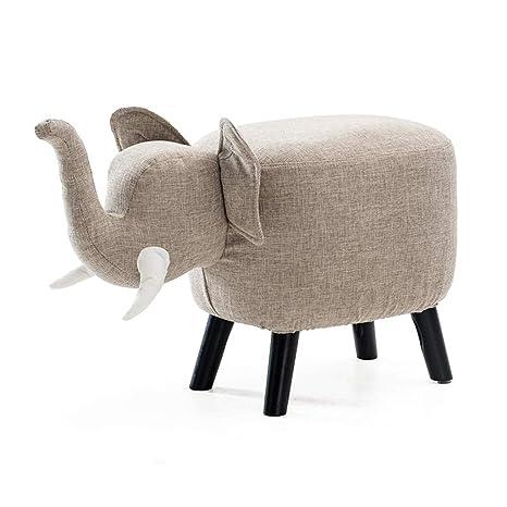 Amazon.com: Taburete para zapatos, cojín de algodón y lino ...